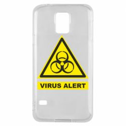 Чехол для Samsung S5 Warning Virus alers