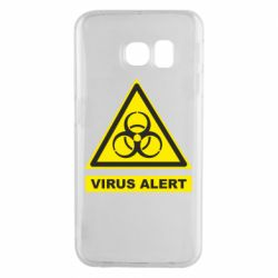 Чехол для Samsung S6 EDGE Warning Virus alers