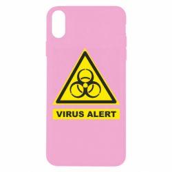 Чохол для iPhone Xs Max Warning Virus alers