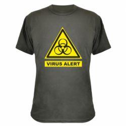 Камуфляжна футболка Warning Virus alers
