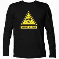 Футболка з довгим рукавом Warning Virus alers