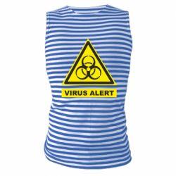 Майка-тільняшка Warning Virus alers