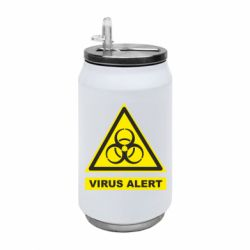 Термобанка 350ml Warning Virus alers