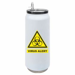 Термобанка 500ml Warning Virus alers