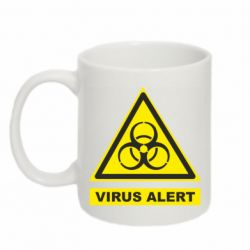 Кружка 320ml Warning Virus alers