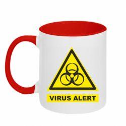 Кружка двоколірна 320ml Warning Virus alers