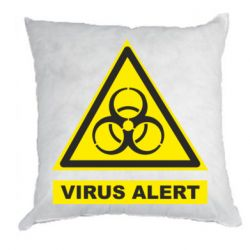 Подушка Warning Virus alers
