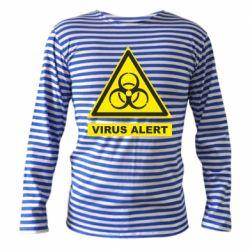 Тільник з довгим рукавом Warning Virus alers