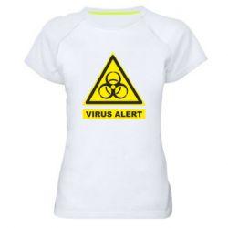Жіноча спортивна футболка Warning Virus alers