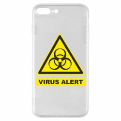Чехол для iPhone 7 Plus Warning Virus alers