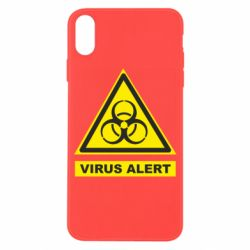 Чехол для iPhone X/Xs Warning Virus alers