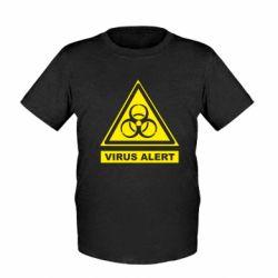 Дитяча футболка Warning Virus alers
