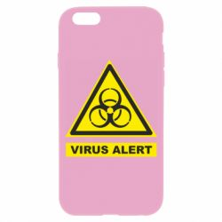 Чехол для iPhone 6/6S Warning Virus alers