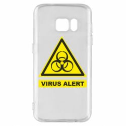 Чехол для Samsung S7 Warning Virus alers