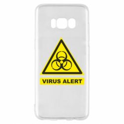 Чехол для Samsung S8 Warning Virus alers