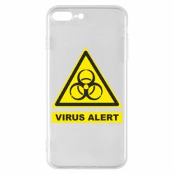 Чохол для iPhone 8 Plus Warning Virus alers