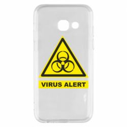 Чехол для Samsung A3 2017 Warning Virus alers