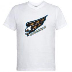 Чоловічі футболки з V-подібним вирізом Washington Capitals Logo