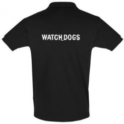 Футболка Поло Watch_Dogs logo text