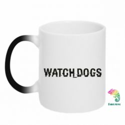 Кружка-хамелеон Watch_Dogs logo text