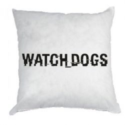 Подушка Watch_Dogs logo text