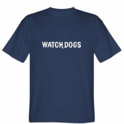 Мужская футболка Watch Dogs text