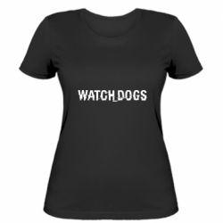 Женская футболка Watch Dogs text