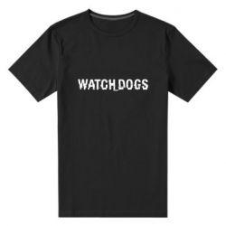 Мужская стрейчевая футболка Watch Dogs text