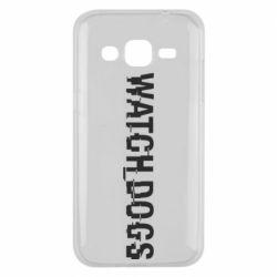 Чехол для Samsung J2 2015 Watch Dogs text