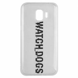 Чехол для Samsung J2 2018 Watch Dogs text