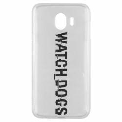 Чехол для Samsung J4 Watch Dogs text
