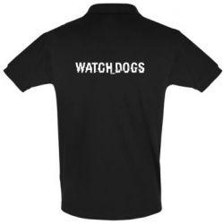 Мужская футболка поло Watch Dogs text
