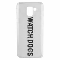 Чехол для Samsung J6 Watch Dogs text