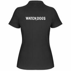 Женская футболка поло Watch Dogs text