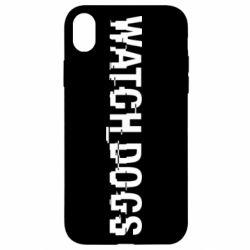 Чехол для iPhone XR Watch Dogs text