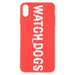 Чехол для iPhone Xs Max Watch Dogs text