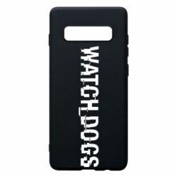 Чехол для Samsung S10+ Watch Dogs text