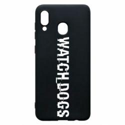 Чехол для Samsung A20 Watch Dogs text