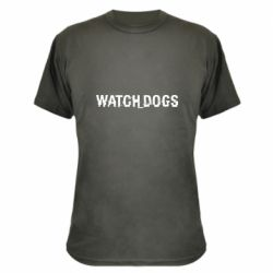 Камуфляжная футболка Watch Dogs text