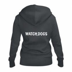 Женская толстовка на молнии Watch Dogs text