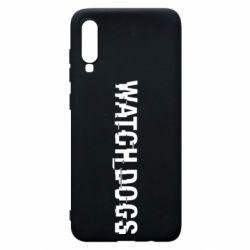 Чехол для Samsung A70 Watch Dogs text