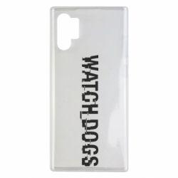 Чехол для Samsung Note 10 Plus Watch Dogs text