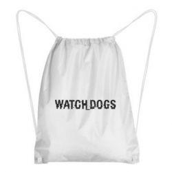 Рюкзак-мешок Watch Dogs text