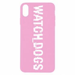 Чехол для iPhone X/Xs Watch Dogs text