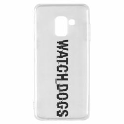Чехол для Samsung A8 2018 Watch Dogs text