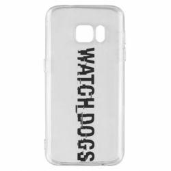 Чехол для Samsung S7 Watch Dogs text