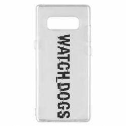 Чехол для Samsung Note 8 Watch Dogs text