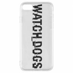 Чехол для iPhone 8 Watch Dogs text