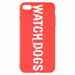 Чехол для iPhone 8 Plus Watch Dogs text