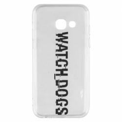 Чехол для Samsung A3 2017 Watch Dogs text